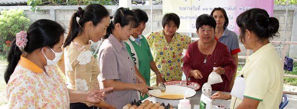 กศน.ตำบลป่าซางจัดกิจกรรมการศึกษาต่อเนื่องหลักสูตรระยะสั้น ธุรกิจขนมไทย