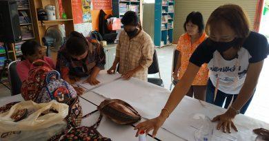 หลักสูตรระยะสั้น วิชาการทำกระเป้าหิ้วผ้าด้นมือ